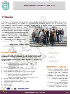 Newsletter Issue 5 June 2014