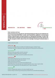 NEWSLETTER LEBENDIGE FORSCHUNG AN FACHHOCHSCHULEN IN NRW NACHRICHTEN PUBLIKATIONEN TERMINE FORSCHUNGSFELDER