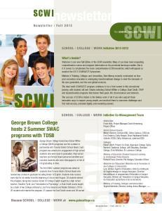 newsletter Newsletter I Fall 2013 What s Inside?