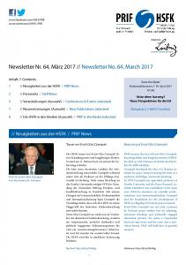 Newsletter No. 64, March 2017