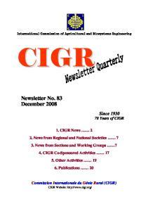 Newsletter No. 83 December 2008