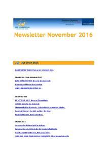 Newsletter November 2016