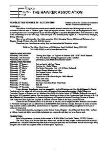 NEWSLETTER NUMBER 25 - AUTUMN 2009