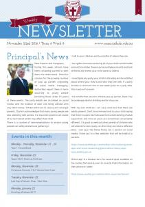 Newsletter. Principal s News. Events in this month. Monday - Thursday, November Friday, November 25. Monday, November 28. Tuesday, November 29