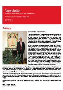 Newsletter Schweizerische Botschaft in den Niederlanden