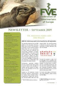Newsletter September 2009