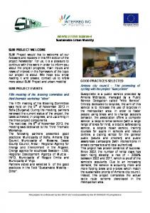 NEWSLETTER SUM 4 Sustainable Urban Mobility