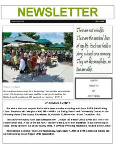NEWSLETTER UPCOMING EVENTS