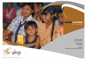 NEWSLETTER Vol. I May 2012