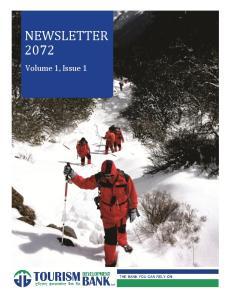 NEWSLETTER Volume 1, Issue 1. Tourism Development Bank Limited Newsletter 2072 Page 0