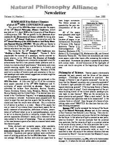Newsletter Volume 14, Number 1 June. 2008