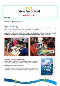 NEWSLETTER Week 8 Term 2