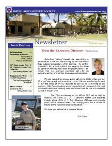 Newsletter Winter, 2013