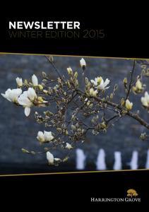NEWSLETTER WINTER EDITION 2015