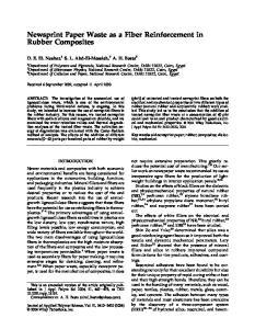 Newsprint Paper Waste as a Fiber Reinforcement in Rubber Composites