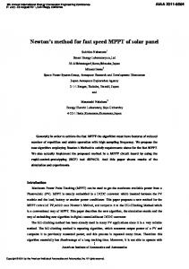 Newton s method for fast speed MPPT of solar panel