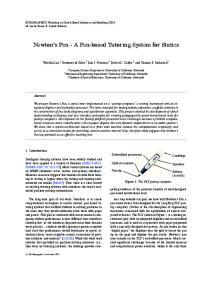 Newton s Pen - A Pen-based Tutoring System for Statics