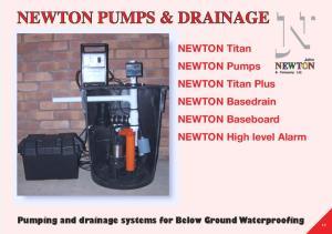 NEWTON Titan NEWTON Pumps NEWTON Titan Plus NEWTON Basedrain NEWTON Baseboard NEWTON High level Alarm