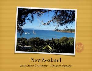 NewZealand. Iowa State University - Semester Options