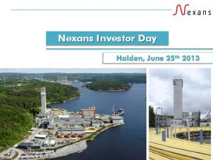 Nexans Investor Day. Halden, June 25 th 2013