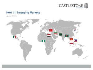 Next 11 Emerging Markets. June 2013
