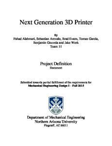Next Generation 3D Printer