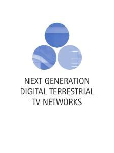 NEXT GENERATION DIGITAL TERRESTRIAL TV NETWORKS