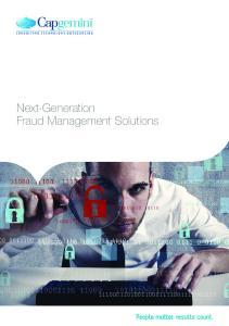 Next-Generation Fraud Management Solutions