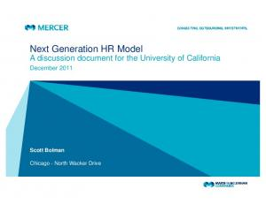 Next Generation HR Model