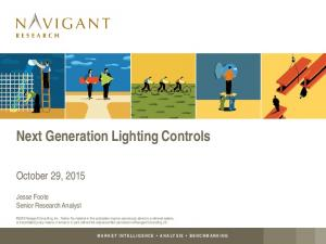 Next Generation Lighting Controls