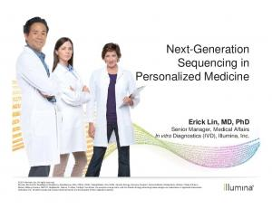 Next-Generation Sequencing in Personalized Medicine