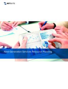 Next-Generation Services Resource Planning