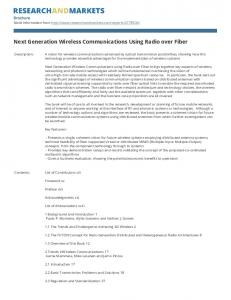 Next Generation Wireless Communications Using Radio over Fiber