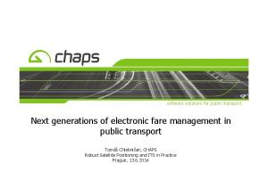 Next generations of electronic fare management in public transport