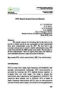 NFC Based Access Control System