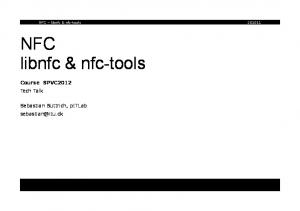 NFC libnfc & nfc-tools