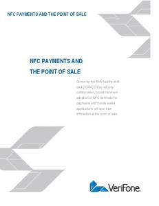 NFC PAYMENTS AND THE POINT OF SALE