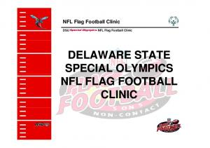 NFL Flag Football Clinic. DSU NFL Flag Football Clinic