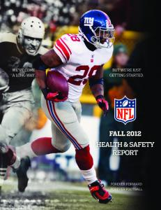 NFL Health & Safety Fall Report