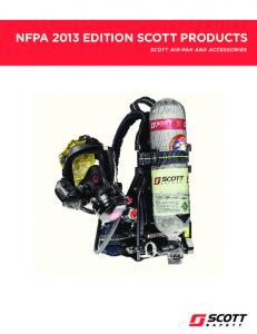 NFPA 2013 EDITION SCOTT PRODUCTS SCOTT AIR-PAK AND ACCESSORIES