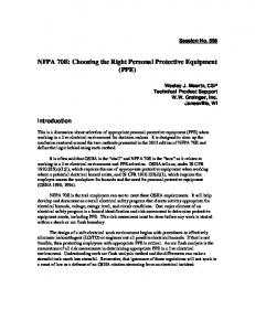 NFPA 70E: Choosing the Right Personal Protective Equipment (PPE)