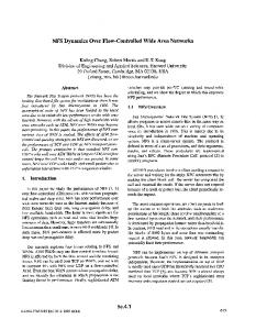 NFS Dynamics Over Flow-Controlled Wide Area Networks
