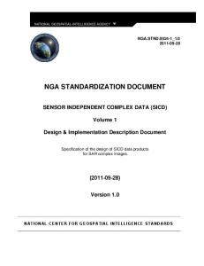 NGA STANDARDIZATION DOCUMENT