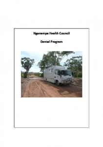 Nganampa Health Council. Dental Program