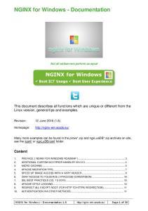 NGINX for Windows - Documentation