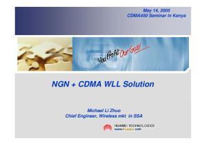 NGN + CDMA WLL Solution