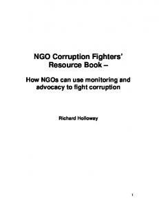 NGO Corruption Fighters Resource Book