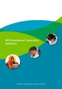 NGO Development Cooperation Guidelines