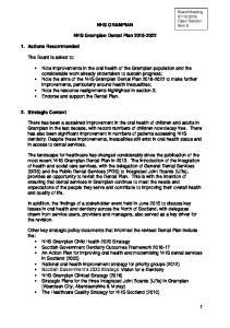 NHS GRAMPIAN. NHS Grampian Dental Plan