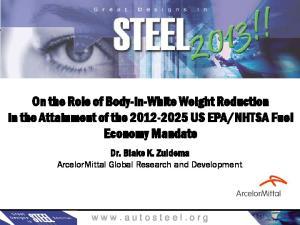 NHTSA Fuel Economy Mandate